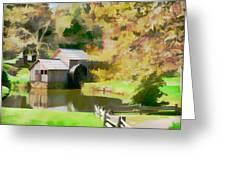 Blue Ridge Grist Mill Greeting Card
