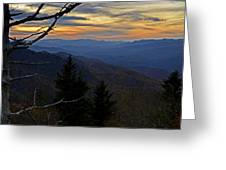 Blue Ridge Last Light Greeting Card