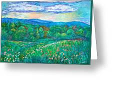 Blue Ridge Meadow Greeting Card
