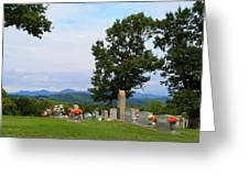 Blue Ridge Mountain Cemetery Greeting Card