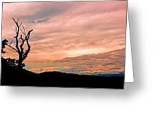 Blue Ridge Mountain Sunrise Panoramic  Greeting Card