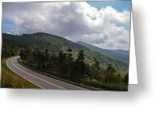 Blue Ridge Mountains And Blue Ridge Parkway Greeting Card