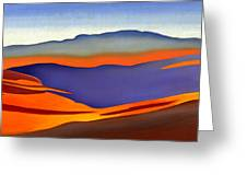 Blue Ridge Mountains East Fall Art Abstract Greeting Card