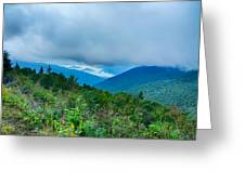 Blue Ridge Parkway National Park Sunrise Scenic Mountains Summer Greeting Card