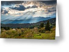 Blue Ridge Parkway North Carolina Mountains Gods Country Greeting Card