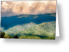 Blue Ridge Parkway Scenic Mountains Overlook Summer Landscape Greeting Card