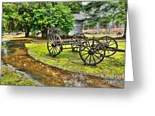 Blue Ridge Parkway Vintage Wagon In The Rain I Greeting Card
