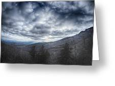 Blue Ridge Parkway Winter Scenes In February Greeting Card