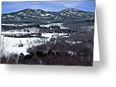 Blue Ridge Vista Greeting Card
