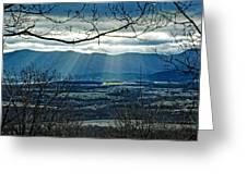 Blue Ridge Winter Solstice 2012 Greeting Card