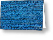 Blue Rope Stack Greeting Card