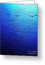 Blue Sand Abstract Greeting Card
