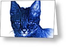 Blue Savannah Cat - 5462 F S Greeting Card