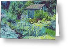 Blue Shed Greeting Card
