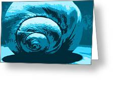 Blue Shell - Sea - Ocean Greeting Card