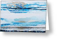 Blue Shore Rhythms And Textures IIi Greeting Card by Mike   Bell