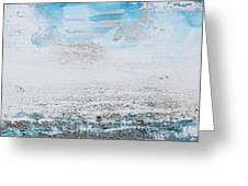 Blue Shore Rhythms And Texturesii Greeting Card