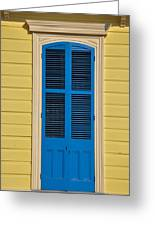 Blue Shutter Door - New Orleans Greeting Card