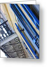 Blue Shutters In New Orleans Greeting Card