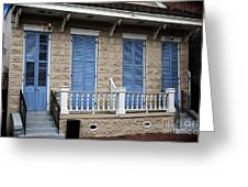 Blue Shutters On Toulouse Greeting Card