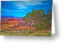 Blue Skies And Canyons Greeting Card