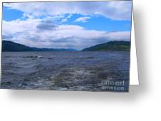 Blue Skies At Loch Ness Greeting Card