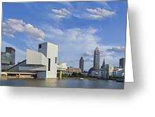 Blue Skies Over Cleveland Greeting Card