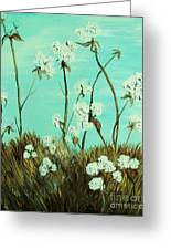 Blue Skies Over Cotton Greeting Card