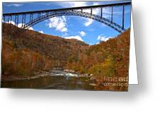 Blue Skies Over The New River Bridge Greeting Card