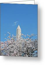 Blue Skies With Washington Monument Greeting Card