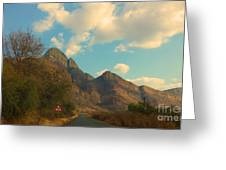 Blue Sky And Mountains Greeting Card