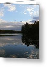 Blue Sky Clouds And Reflections Greeting Card