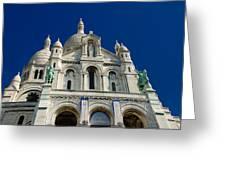 Blue Sky Over Sacre Coeur Basilica Greeting Card