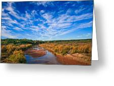 Blue Sky Over The Brazos Greeting Card
