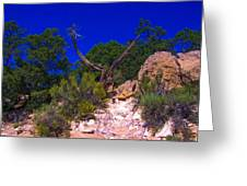 Blue Sky Over The Canyon Greeting Card