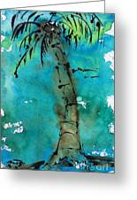 Blue Sky Palm Greeting Card