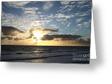 Blue Sky Sunrise Greeting Card