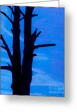 Blue Sky Tree Greeting Card