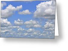 Blue Sky With Cumulus Clouds Day Usa Greeting Card