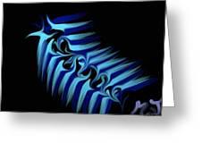 Blue Slug Greeting Card by Michael Jordan