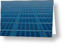 Blue Solar Panel Collector View Greeting Card