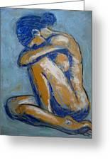 Blue Soul - Female Nude Greeting Card