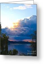 Blue Soundscape Greeting Card