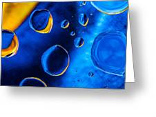 Blue Space Ice Greeting Card