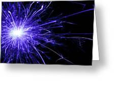 Blue Sparkle Greeting Card