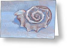 Blue Spiral Greeting Card