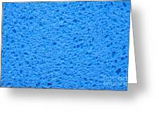 Blue Sponge Texture Greeting Card