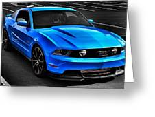 Blue Stang Greeting Card