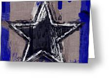 Blue Star Abstract Greeting Card
