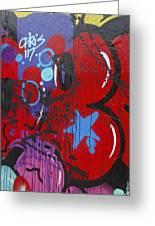 Blue Star Graffiti Nyc 2014 Greeting Card